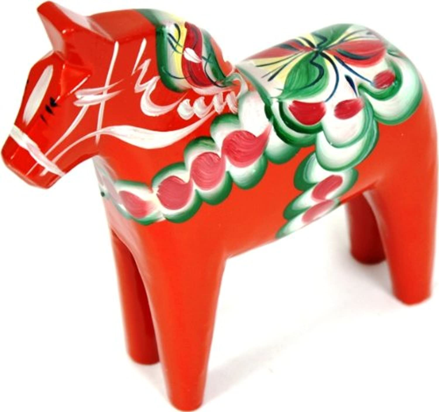 Traditional Wooden Swedish Dala Horse - Red 6  (15cm)