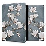 kwmobile Étui liseuse Compatible avec Kobo Aura One - Housse avec Rabat magnétique en Simili Cuir - Magnolias...