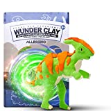 Allessimo - Wunderclay 3D Air-Dry Clay Puzzle Parasaurolophus Clay Kit for Boys Girls Build Jigsaw Assembly Puzzles Ages 5+