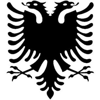 2 x Adesivi con logo Albania Aquila, auto/heckscheiben/Laptop vinile,/High  Quality Product. + colore a scelta: Amazon.it: Auto e Moto