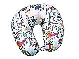 i-total XL1308 Almohada de Viaje Cuello Cervical reposa Cabezas - Regalos para Coche viajeros Unicornio Infantil niños y niñas Funda de cojín para reposacabezas Viaje Neck Travel Pillow Unicornio