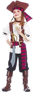 Guirca grafoplas Disfraz piratessa Los de Nuevo EL Mundo niña, Multicolor, Talla 10/12años, 85383