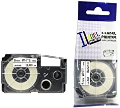LM Tapes - Casio KL-7200 6mm Black on White Compatible Label Tape for Casio KL7200 EZ Label Printer