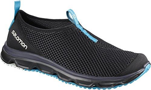 Salomon RX Moc 3.0, Stivali da Escursionismo Uomo, Nero Black/Hawaiian Surf 000, 43 1/3 EU
