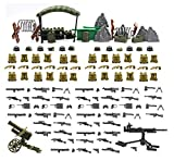 War Equipment and Weapon in World War II Compatible with Building Block Brand Figure