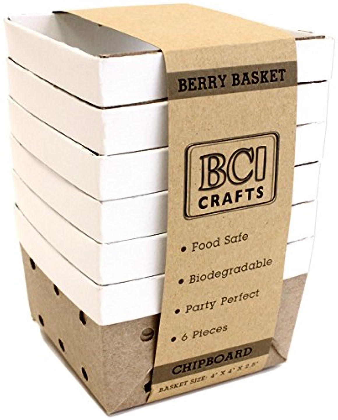 BCI Crafts 6STRCHIP Berry Basket 6/Pkg-Chipboard