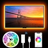 Tiras Led RGB Inteligente, Gosund, para TV Gaming, con Autoadhesiva, Compatir con Alexa/Assisant, Control de Voz/Remoto, Multicolor, Modos de Escena, Brillo Ajustable, IP65-Impermeable, 2.8M