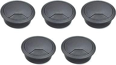 TUOREN 60mm Computer Desk Grommet Plastic Round Desk Grommet Hole Wire Cover Organizer BLACK 5Pcs