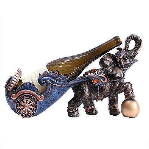 JINKEBIN Sculpture. Decorazioni Arte Artigianato Elephant Vino Vino più Fresco Creativo cremagliera Ristorante Vino D'uva Tavolo da Pranzo Tavolo 1