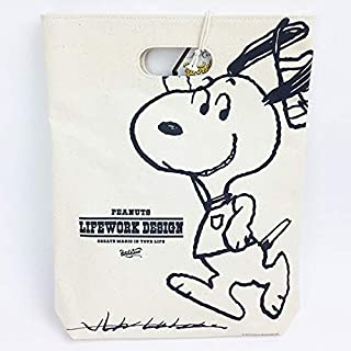 Peanuts Life Work Design WITH ME TOTE ワークソン トート workson 可愛い スヌーピー (Tシャツ)