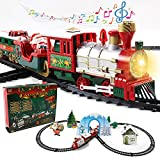 FAM MITGLIE Toy Train Set for Christmas, Electric Train Set with...