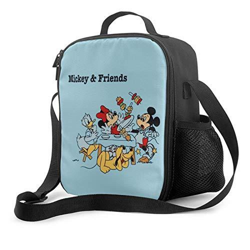 ベンチレーションバッグクーラーバッグランチボックスクーラーバッグアメリカンディズニークラシックアニメーションミッキードナルドダックファミリーポートレートランチバッグクーラーバッグ長持ちするクーラーバッグ