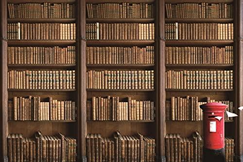 Biblioteca Interior estantería Libros fotografía Fondos Fondos fotográficos para Estudio fotográfico A12 7x5ft / 2,1x1,5 m