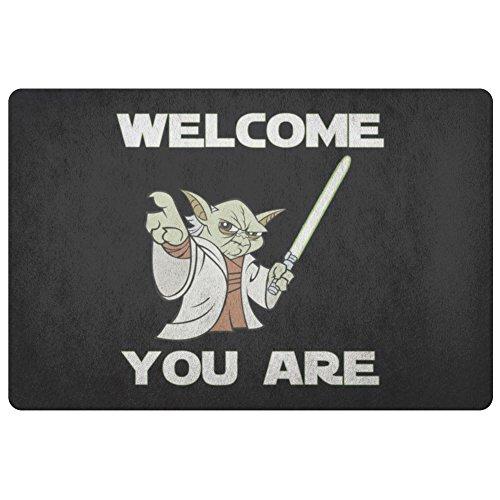 Felpudo de Yoda de star wars alfombra divertido personalizada 91.4x 45.7cm Felpudo bienvenido estás