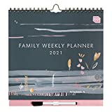 Boxclever Press Family Weekly Planner 2021 Calendar. Stunning Family Calendar 2021 with 6