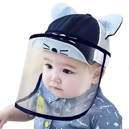 Oupai Schutzmaske Hut Baby-Sommer-Hut mit Anti-Spray-Maske Baby-Sonnenschutz-Kappe for 0-3 Jahre alt Removable Maske TPU Sicherheit Material Breathable Ineinander greifen