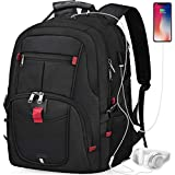 NUBILY Laptop Backpack 17 Inch Waterproof Extra Large TSA Travel Backpack Anti Theft College School Business Mens Backpacks with USB Charging Port 17.3 Gaming Computer Backpack for Women Men Black 45L business backpacks Nov, 2020