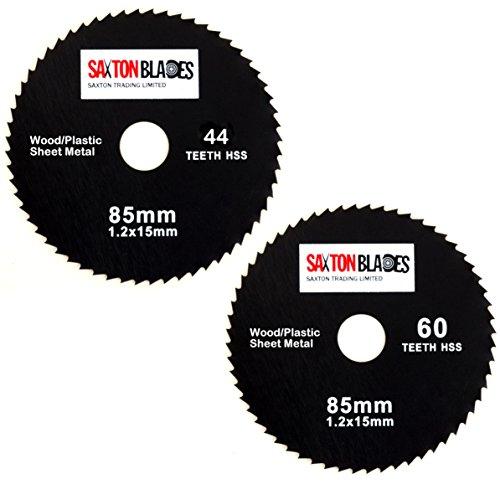Saxton Hoja de sierra circular HSS de 85 mm, compatible con Worx Worxsaw Bosch Makita Ryobi, etc