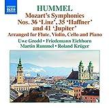 Symphonie n° 36 « Linz », n° 35 « Haffner » et 41 « Jupiter » (arr. pour flûte, violon, violoncelle et piano par J. N. Hummel)