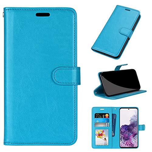 GARITANE Hülle Kompatibel mit LG G7 ThinQ/G7+ ThinQ/G7 One/G7 Fit,Handyhülle Hülle mit Magnet Kartenfächer Schutzhülle Retro Lederhülle (Blau)