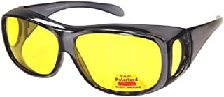 Polarized Night Driving Fit Over Wear Over Prescription Glasses Sunglasses- Size Large