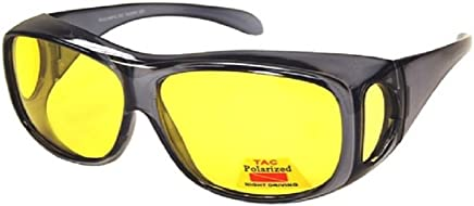 48aed4d2db Polarized Night Driving Fit Over Wear Over Prescription Glasses Sunglasses-  Size Large