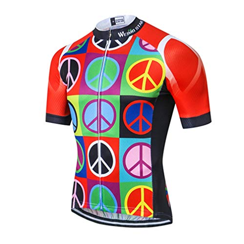 Mens Cycling Jersey Shirt,2021 Short Sleeve Bike Jersey Riding Tops Outdoor MTB Cycling Clothing Multi L