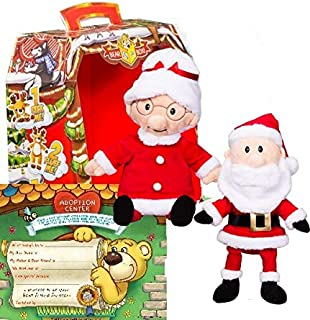 Teddy Mountain Christmas Mr and Mrs. Santa Claus 8 inch Plush Stuffed Box