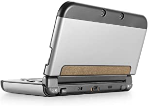 TNP New 3DS XL Case (Silver) - Plastic + Aluminium Full Body Protective Snap-on Hard Shell Skin Case Cover for New Nintendo 3DS LL XL 2015 - [New Modified Hinge-Less Design]
