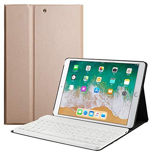 Aidashine Ultra Lichtgewicht Cover case met Afneembaar Draadloos Toetsenbord voor Apple Nieuwe iPad 9.7 2018/2017 Tablet