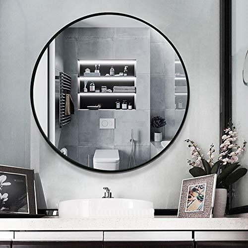 Miroir de salle de bain Mural, Miroir Cosmétique Rond, Cadre en Aluminium Or/Argent/Noir, Miroir De Sécurité Antidéflagrant, Utilisé pour L'entrée, Le