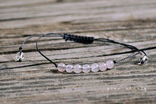 shipfree LOVEKUSH Galaxy Jewelry 4 mm Rose Quartz trend rank Adjustable Bracele Pink