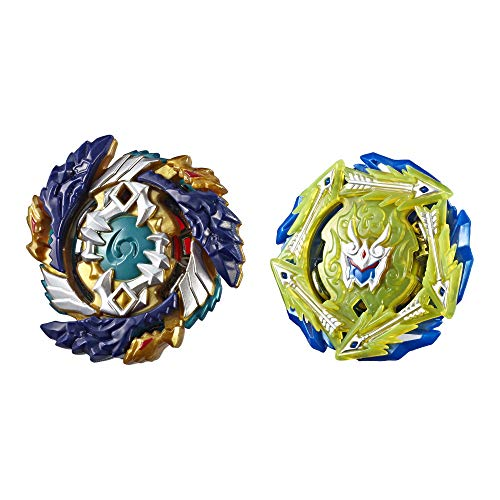 BEYBLADE Burst Turbo Slingshock Dual Pack Fafnir F4 and Rudr R4 -- 1 Left-Spin, 1 Right-Spin Battling Tops, Age 8+
