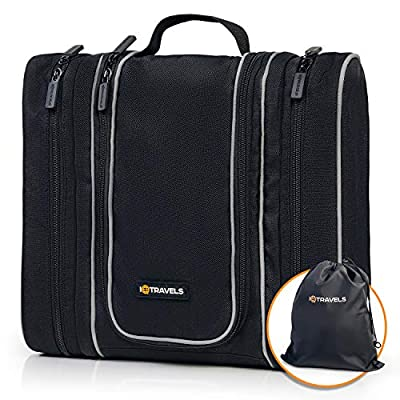 Travel Kit - Hanging Toiletry Bag for Men - Cosmetic Organizer for Men | Travel Size Toiletries Bag | Large Portable Bathroom Accessories Kit | Travel Toiletry Bag for Women | Diabetic Medicine Bag