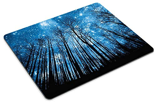 Smooffly Gaming Mousepad Psychedelic Starry Night Forest Mouse pad, Fantastic Galaxy Landscape Mouse pad Non-Slip Rubber Rectangle Mouse Pads for Computers Laptop Photo #5