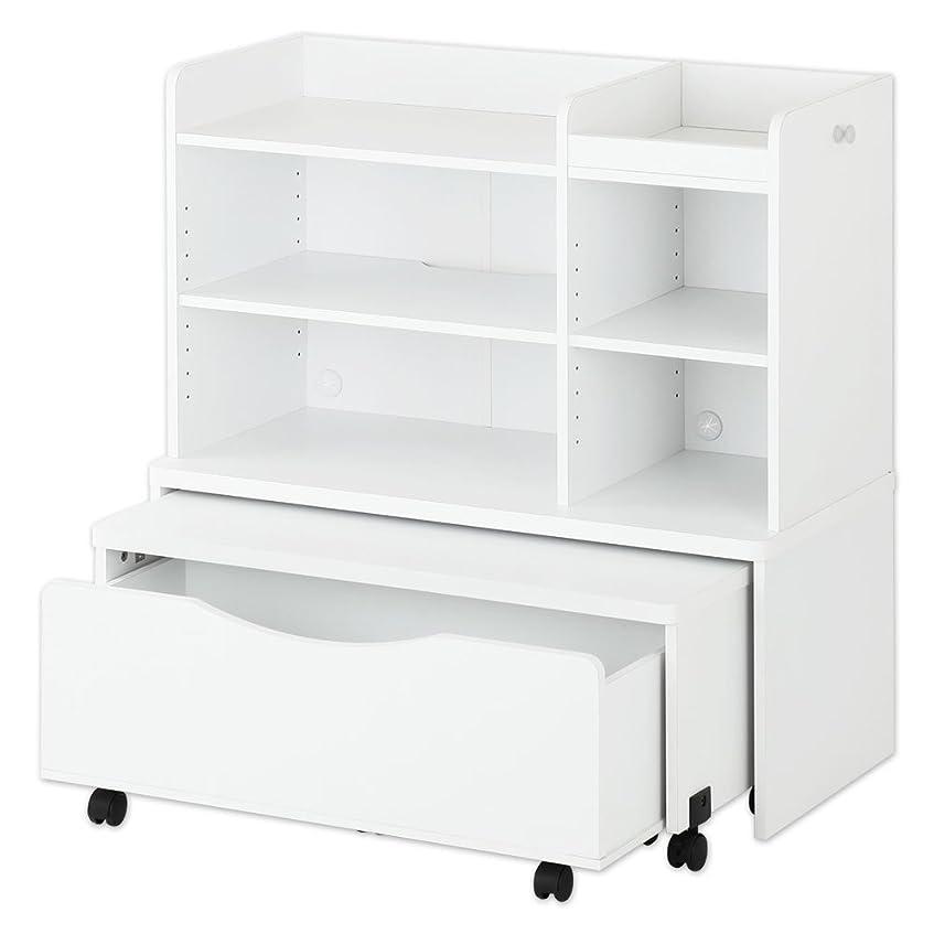 ポンドレシピ男やもめぼん家具 【完成品】 ランドセルラック 3点セット デスク 収納ボックス 本棚 木製 ホワイト