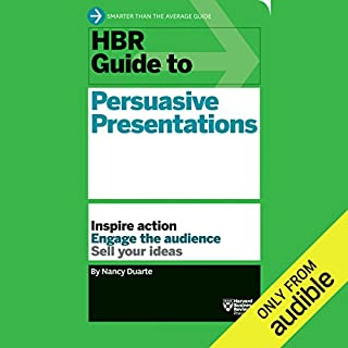 HBR Guide to Persuasive Presentations                   By:                                                                                                                                 Harvard Business Review,                                                                                        Nancy Duarte                               Narrated by:                                                                                                                                 Lissa Ivary                      Length: 3 hrs and 17 mins     1 rating     Overall 4.0
