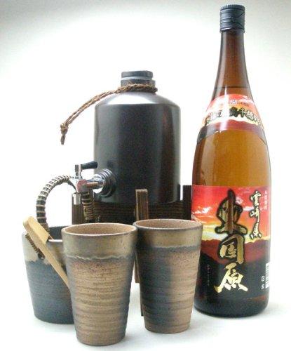 焼酎サーバー全セット (神楽酒造 本格芋焼酎 東国原(ひがしこくばる) 25度 1800ml)