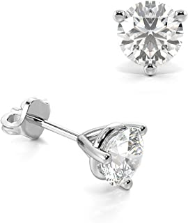 277b81ebf Abelini Certified 100% Natural Round Stud Diamond Earrings for Women  (Available in 0.20-