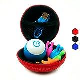 Hexnub Sphero Mini Zubehör Schutzhülle & Schutztasche Case Tasche & Reise-Etui für ferngesteuerten Spielzeug Roboter Ball – ideal für Reisen und unterwegs – Rot