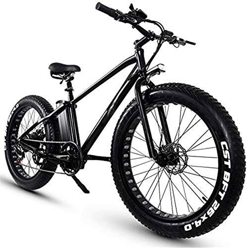 Bicicleta de montaña eléctrica, Bici de montaña de bicicleta eléctrica de 26 pulgadas de 55 pulgadas 48V 15AH / 20Ah Batería de litio extraíble 5 PAS Freno delantero y trasero del freno Bicicleta eléc
