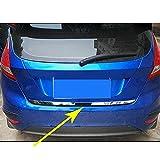 Tapa De La Tapa del PortóN Trasero, Inoxidable Cromado Tapa Trasera del Maletero Cubierta De La Tira De Moldura Pegatina Accesorios De Estilo para Ford Fiesta Hatchback 2009-2017