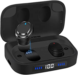 Ceppekyy Wireless Earbuds, Bluetooth 5.0 in-Ear TWS Headphones Auto Pairing Earphones with 2000mAh Charging Case LED Battery Display 80H Playtime, IPX7 Waterproof Built-in Mic Headsets for Sports