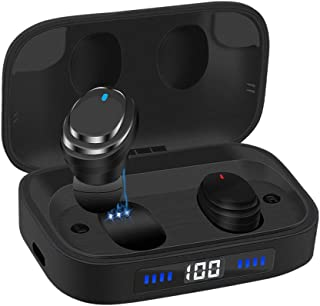 $46 Get Ceppekyy Wireless Earbuds, Bluetooth 5.0 in-Ear TWS Headphones Auto Pairing Earphones with 2000mAh Charging Case LED Battery Display 80H Playtime, IPX7 Waterproof Built-in Mic Headsets for Sports