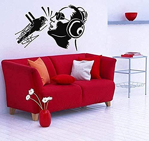 Adesivo Citas Dormitorio Sala Murales Decoración Música Cantante Auriculares 42 65cm Moda Adhesivos Personalizados Arte Pared Pegatinas Murales