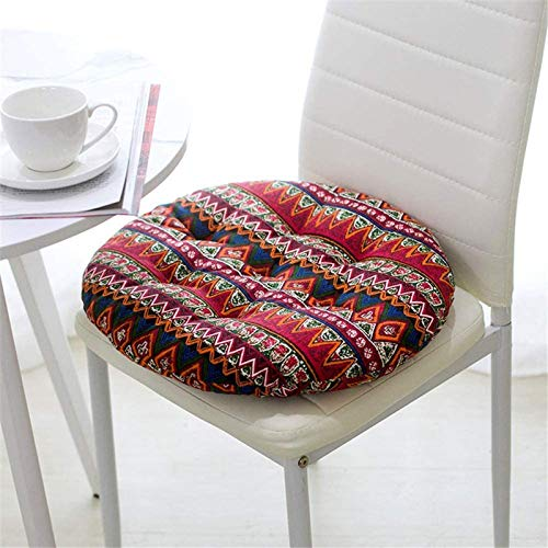 MGE 40x40cm Seat Cushion Set Of 4 Pillows Chair Cushion Seat Cushion,Garden Chair,seat Cover,Balcony Terrace Set Of 4 Seat Cushion Chair Cushion Seat Cover,Garden Chair,Garden(Size:Round,Color:3)