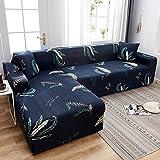 WXQY Funda de sofá con Estampado Floral, Esquina de Asiento, sofá Chaise Longue en...