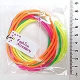 2X Pack Of 12 Neón Masticable Brazaletes/Brillante Bangles/Gominola Bandas - Gran Relleno Piñata Y 80s Accesorios de Disfraces