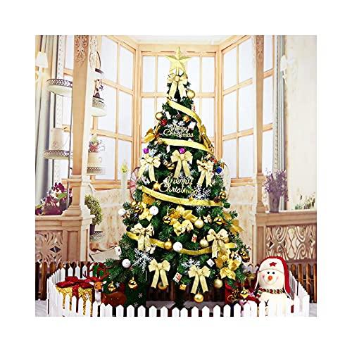 Arbol De Navidad Adornos áRbol De Navidad Decoraciones NavideñAs Juego De DecoracióN De Adornos De áRbol De Navidad Grande Y Luminoso Cifrado En Casa De 5.9 Pies (Color : Gold)