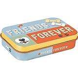 Nostalgic-Art 82203 PfotenSchild - Friends Forever |Leckerli-Dose| Leckerlis-Box | für Unterwegs | To Go